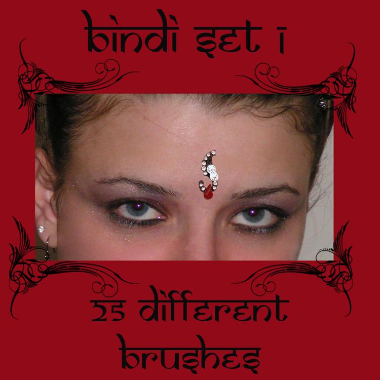Bindis set 1 by rL-Brushes