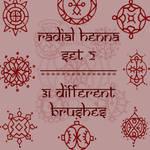 Radial Mehndi 2