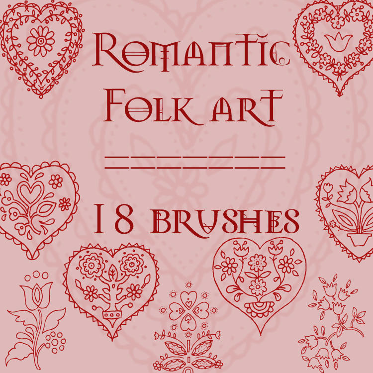 Romantic Folkart by rL-Brushes