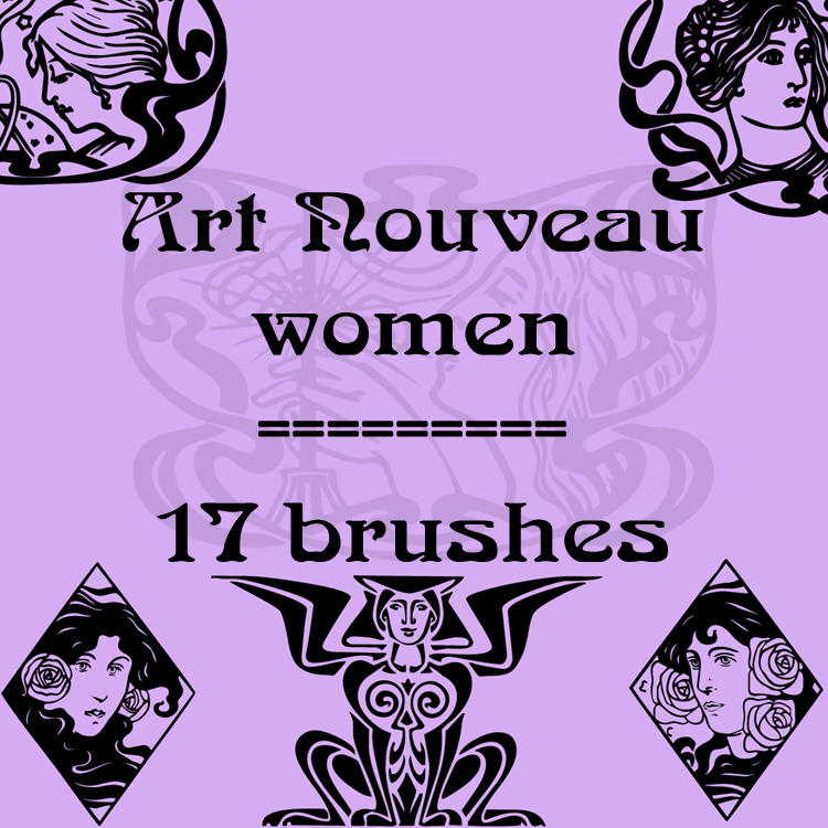 Art Nouveau women by rL-Brushes