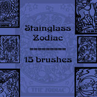 Stainglass Zodiac by rL-Brushes