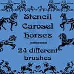 Stencil Carosel Horses