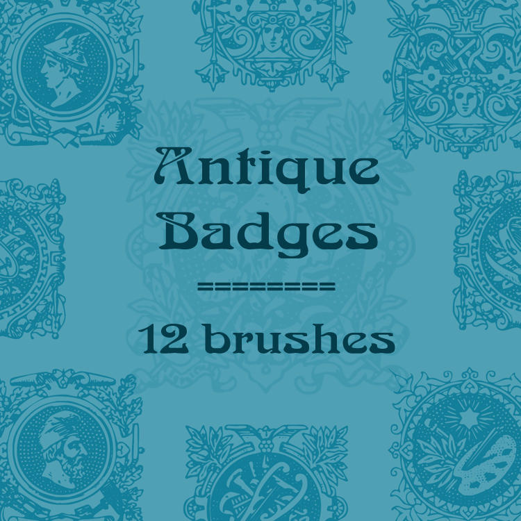 Antique Badges by rL-Brushes