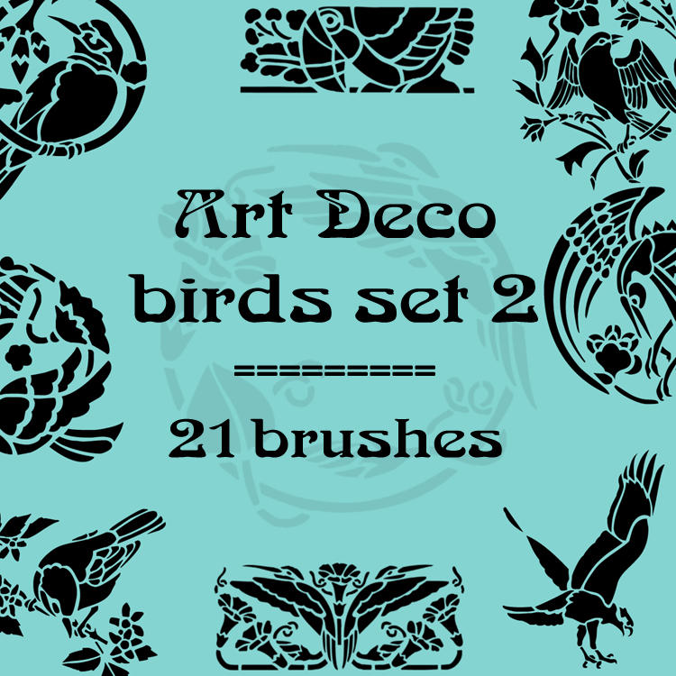 Art Deco birds 2 by rL-Brushes