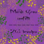 Mardi Gras confetti