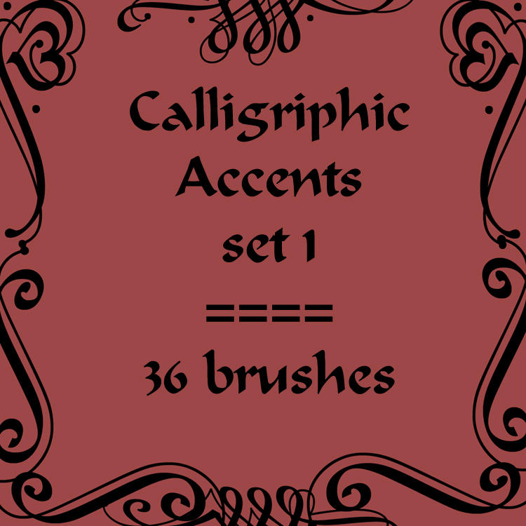 Calligriphic Accents 1 by rL-Brushes