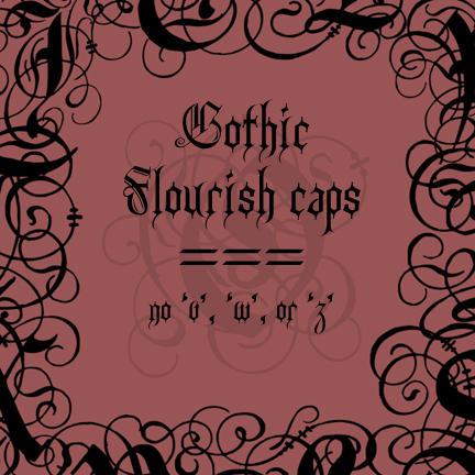Gothic Flourish init by rL-Brushes