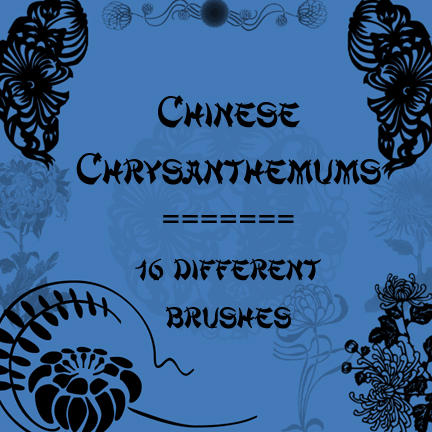 Chinese Chrysanthemums by rL-Brushes