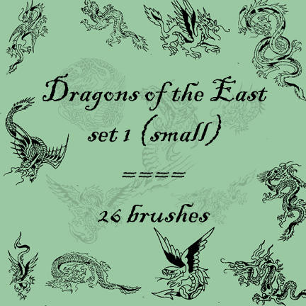 Dragons of the East 1 by rL-Brushes