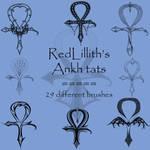 RedLillith's Ankh tats