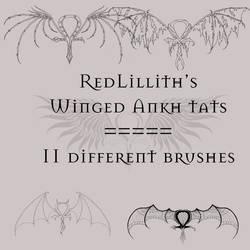 RedLillith's Winged Ankh tats