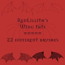 RedLillith's Wing tats set 1