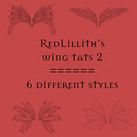 RedLillith's Wing tats set 2 by rL-Brushes