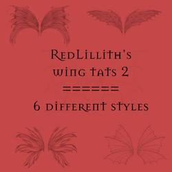 RedLillith's Wing tats set 2