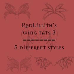 RedLillith's Wing tats set 3