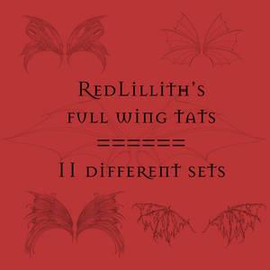 RedLillith's Wing tats set 4