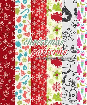 Christmas Patterns (sistaroundpsds)