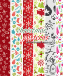 Christmas Patterns (sistaroundpsds)