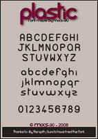 Plastic font by MiXS-90