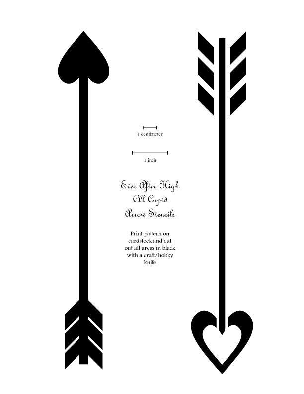 Cupid/'s arrows pattern stencil