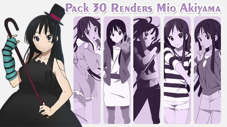 Pack 30 Renders Mio Akiyama by AnneChan34