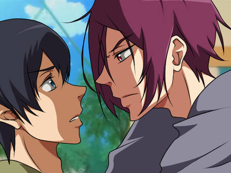 Free  Rin X Haru  Sharkbait  Makeout Animation