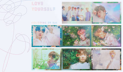 BTS [Love yourself] Coloring by Bai