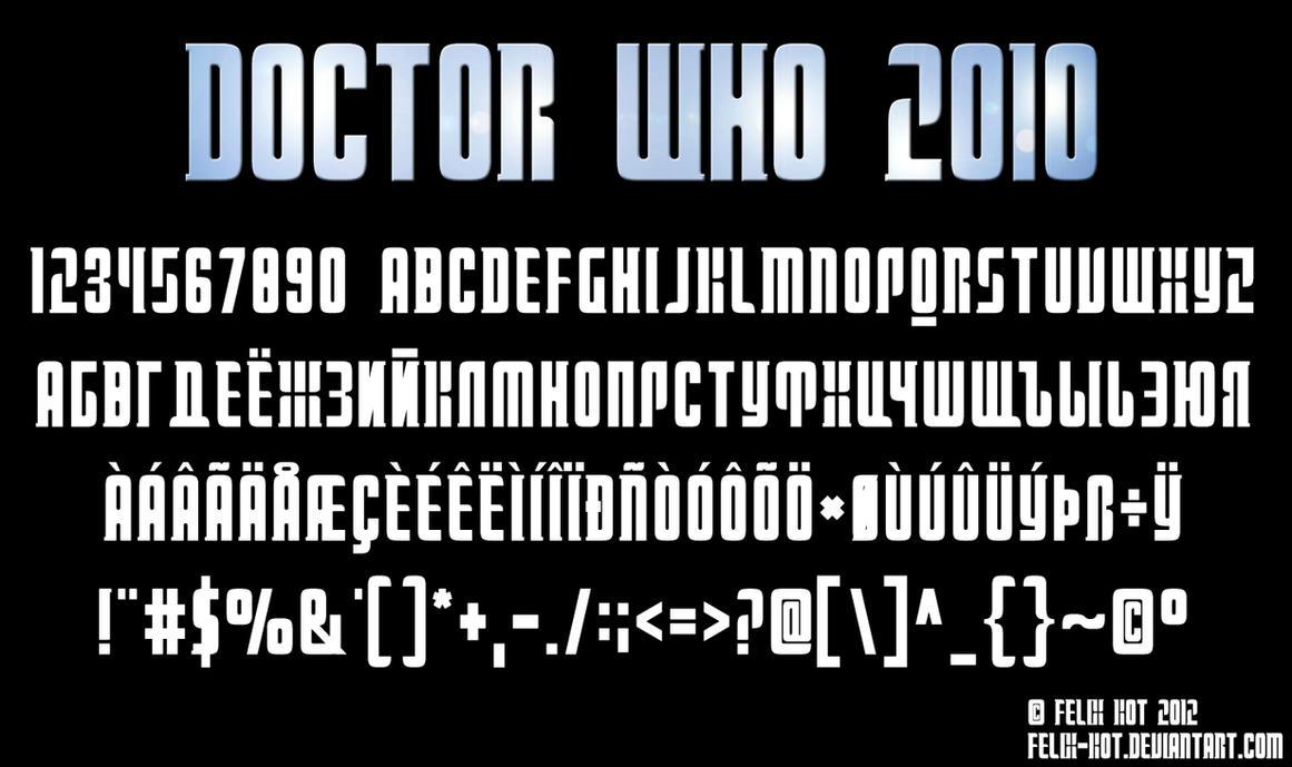 Doctor Who 2010 font by Felix-KoT