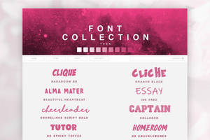 Font Pack 04 | Teen by SugarRush19