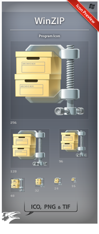 Icon WinZIP by ncrow