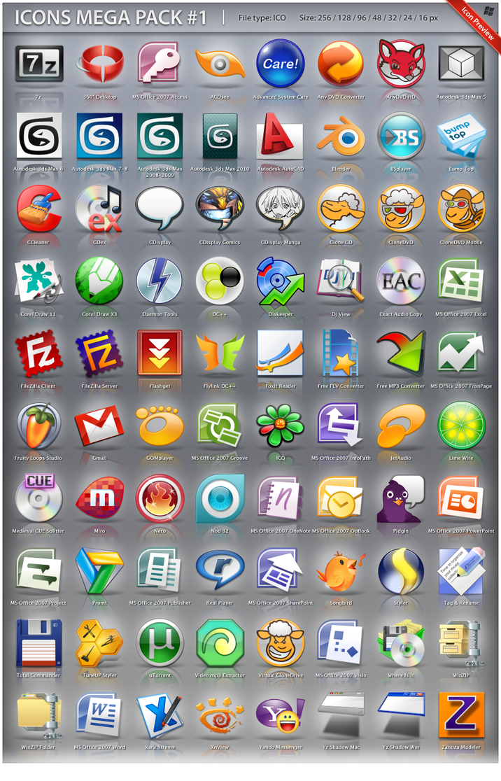 Icons Mega Pack 1 by ncrow