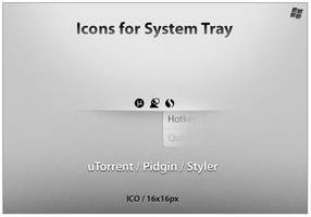 Icons For System Tray 1 by ncrow