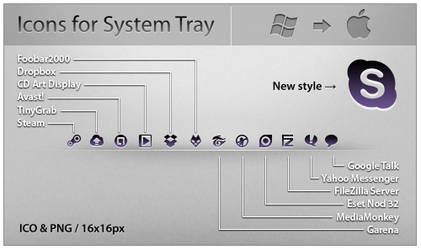 SysTray Icons Pack 2 by ncrow