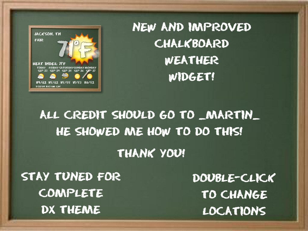 Chalkboard Weather Widget by TNBrat