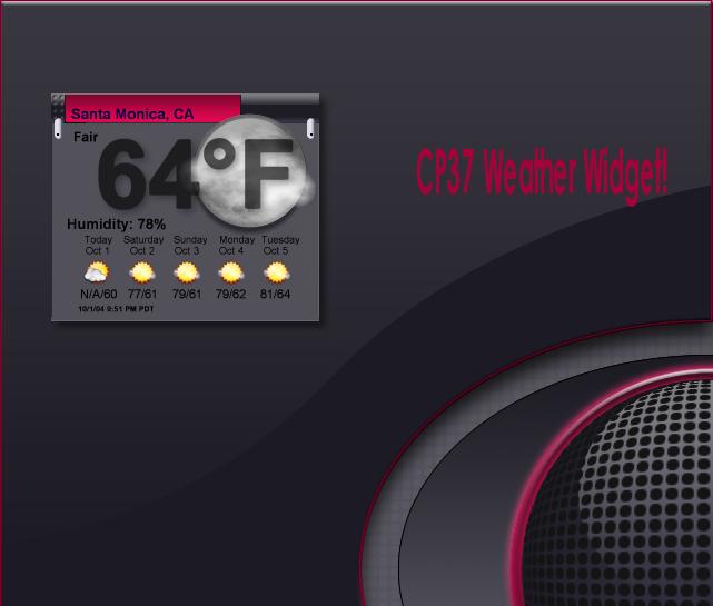 CP37 Weather Widget by TNBrat