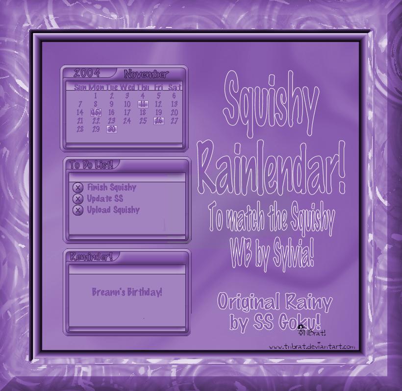 Squishy Rainlendar by TNBrat