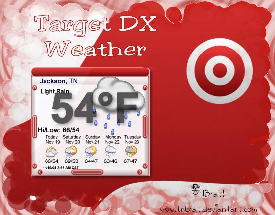 Target Weather Widget by TNBrat