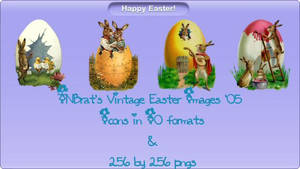 TNBrat's Vintage Easter Icons by TNBrat