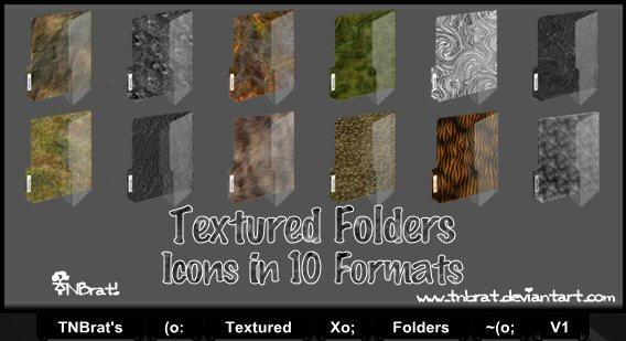 Textured Folders V1 Ico by TNBrat