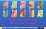 Bright Flowered Folders 1 Icon