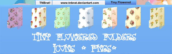 Tiny Flowered Folders by TNBrat