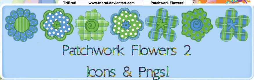 Patchwork Flowers 2 by TNBrat