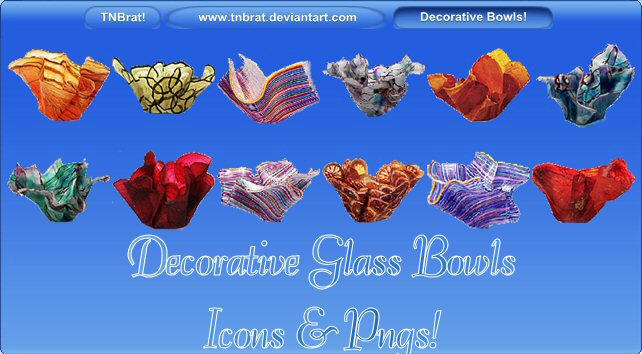 Decorative Glass Bowls by TNBrat