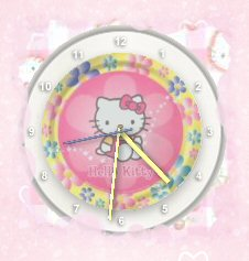 Hello Kitty Clock Widget by TNBrat