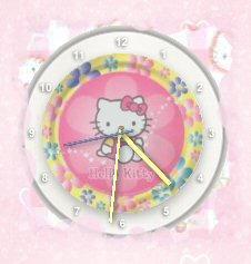 Hello Kitty Clock Widget by TNBrat