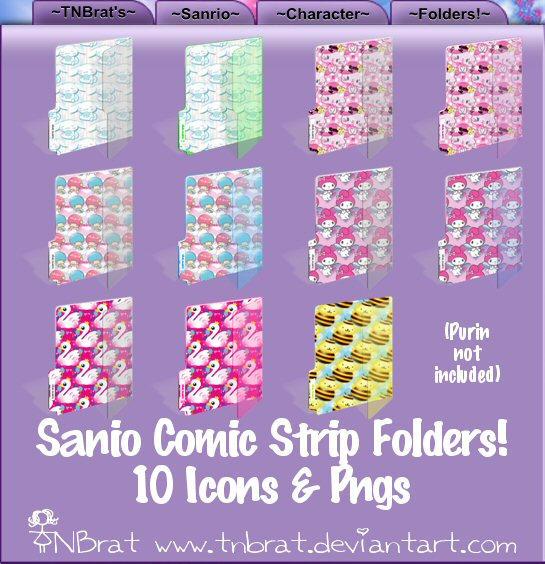 Sanio Comic Strip Folders 1 by TNBrat