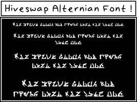 Hiveswap Alternian Font