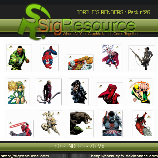 Renders Pack 26 by Tortuegfx