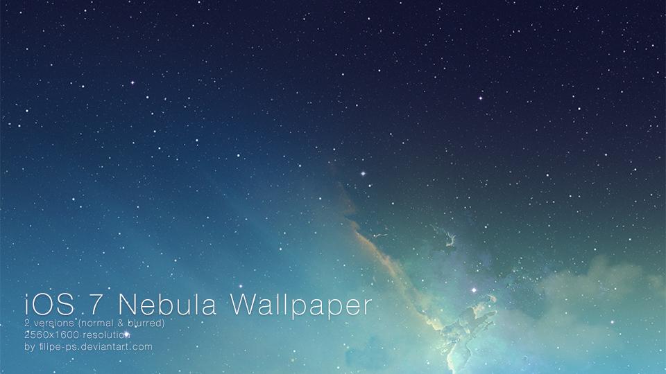iOS 7 Nebula Wallpaper by filipe-ps