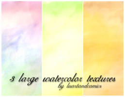 Three Large Watercolor Textures by luartandcomics